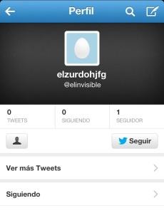 Perfil de twitter inactivo.