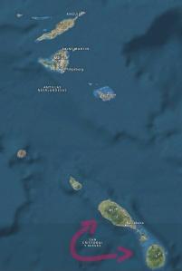 St. Kitts & Nevis, islas vistas de cerca
