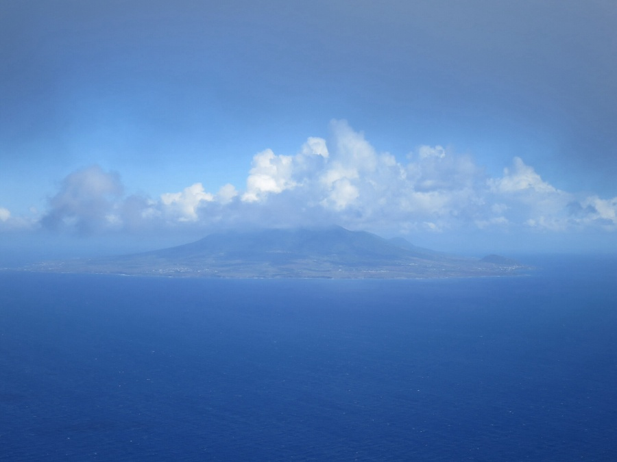 St. Kitts & Nevis. Vista aérea