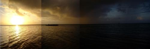 Puesta de sol en Wallis y Futuna.