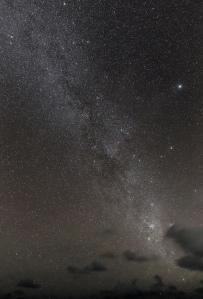 Vía Láctea en los cielos de  la Polinesia, desde Wallis