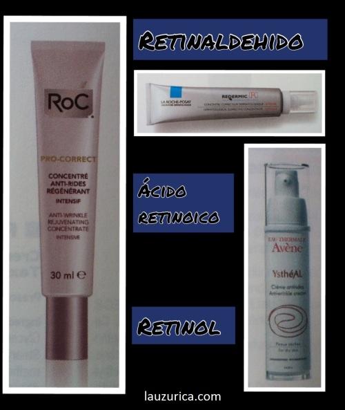 Ejemplo de preparados comerciales con retinoides