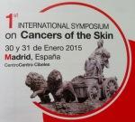 Imagen anunciadora del Primer Simposium Internacional sobre Cáncer de Piel.