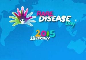 Logotipo anuciador del Día Internacional de la Enfermedades Raras 2015